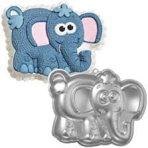 Cake Tin Hire - Elephant Birthday Cake