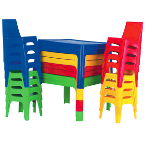 Party Hire - Colored Table  & 4 Chair