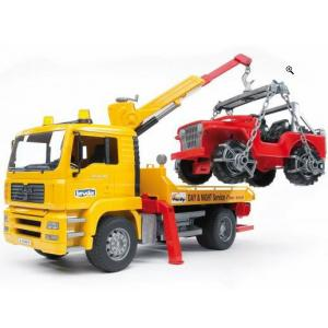 Bruder - Man TGA Breakdown Tow  Truck With Cross Country Vehicle