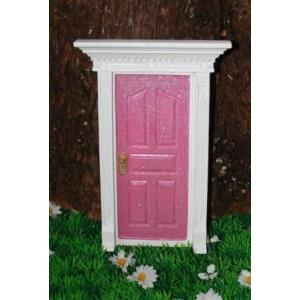 Cotton Candy Magical fairy Door -  Pink Glitter