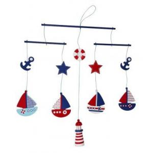 ES Kids - Sail Boat Wooden Mobile
