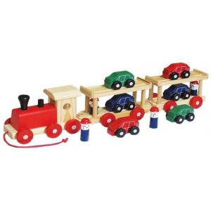Fun Factory - Wooden  Train With Cars