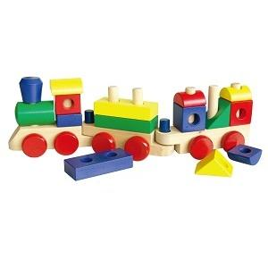Fun Factory - Wooden Stacking Train With Blocks