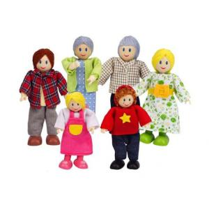Hape Toys - Happy Family Caucasian Dollhouse dolls