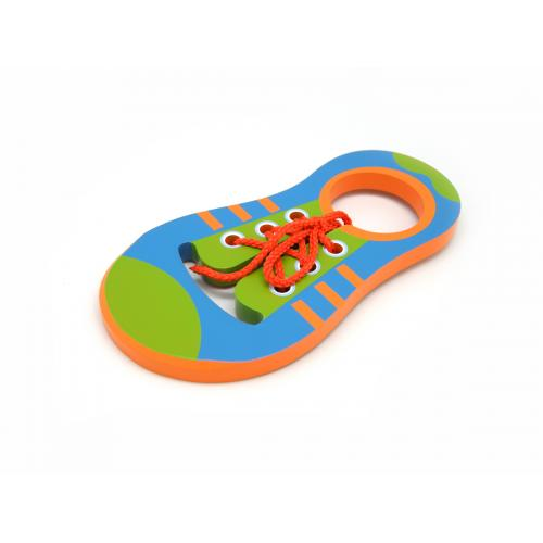 Kaper Kidz Wooden Learn To Tie Shoe Lace Puzzle