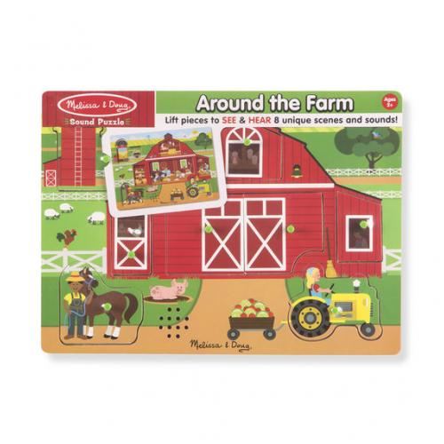 Melissa Doug Around The Farm Sound Puzzle
