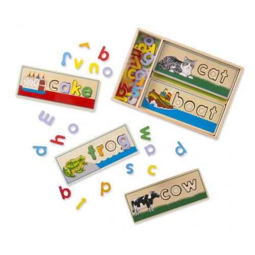 Melissa /& Doug See /& Spell Complete a Puzzle To Spell a Word 72 Wooden Letters