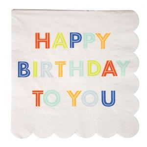 Meri Meri - Happy Birthday Multi Napkin Large (20)