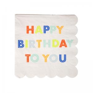Meri Meri - Happy Birthday Multi Napkin Small (20)