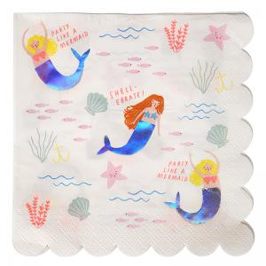 Meri Meri - Lets Be Mermaids Napkins Large  (16)