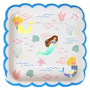 Meri Meri - Lets Be Mermaids Plate  Large  (8)