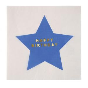 Meri Meri - Jazzy Star Large Happy Birthday Napkins (16)
