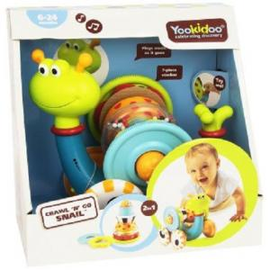 Yookidoo - Crawl N Go Snail Baby Infant Toy