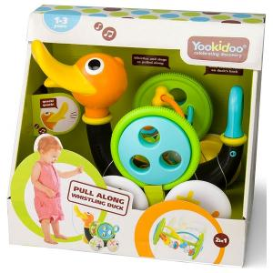 Yookidoo - Pull Along Whistling Duck Baby Infant Toy