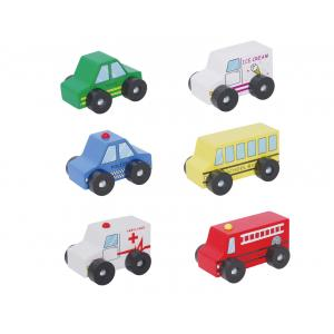 Discoveroo - Wooden 6 piece Car Set