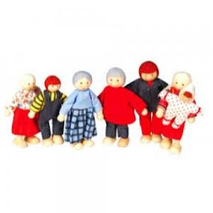 Discoveroo - Wooden Dolls Family
