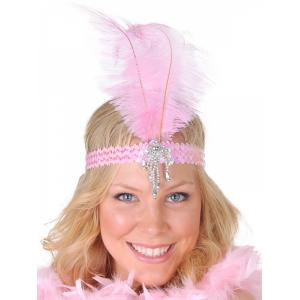 Dr Toms - Feather Headband Pink Sequins