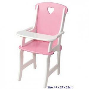 Fun Factory - Pink and White Doll's High Chair
