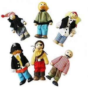 Fun Factory - Wooden Pirate Doll Family