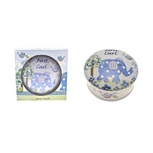 Cavania -  Little Bird & Ellie First Curl Trinket Box - Blue