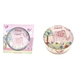 Cavania -  Little Bird & Ellie First Curl Trinket Box - Pink