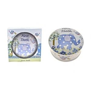 Cavania - Little Bird & Ellie First Tooth Trinket Box - Blue
