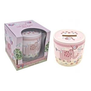 Cavania Little Bird & Ellie Money Box Pink