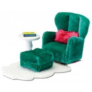 Lundby Smaland Dollhouse -  Armchair with Footstool