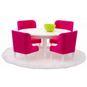 Lundby Smaland Dollhouse  - Pink Dining Set